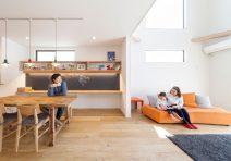家族が繋がるリビングの家|注文住宅の実例